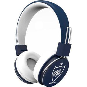 FFF Casque Bluetooth aux couleurs de l'équipe de France de Football