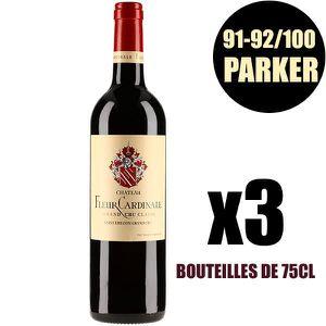 VIN ROUGE X3 Château Fleur Cardinale 2014 75 cl AOC Saint-Em