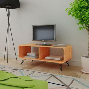 MEUBLE TV P60  Meuble TV 90 x 39 x 38,5 cm Bois marron