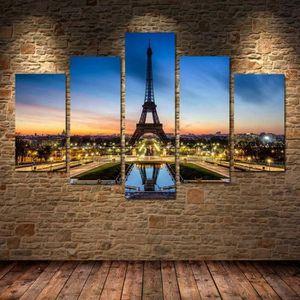 TABLEAU - TOILE 5 Panneau moderne Paris Tour Eiffel art art de la