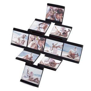 CADRE PHOTO Cadres photo Ensemble de 10 Noir bricolage Rotatin