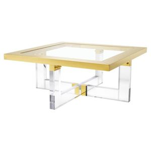54959a0b022f06 TABLE BASSE Casa Padrino table basse de luxe or 100 x 100 x H.
