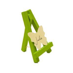 MARQUE-PLACE  Chevalet marque place bois vert anis Lot de 4