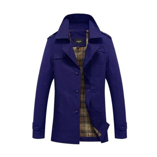 Veste Veston Taille Plus De Style Cachemire Mi Hiver Bleu Nouvelle Confortable Paletot Xxxxxl Jeunesse Personnalité longue Hommes vWSwBqdB