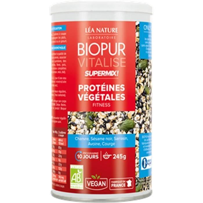 BIOPUR Super Mix Protéines végétales - Fitness - 245 g