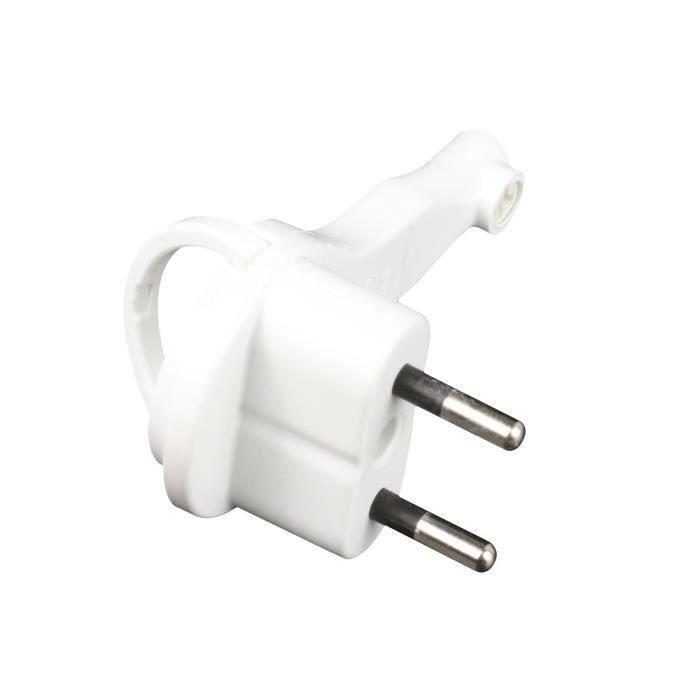 Zenitech 240096 Adaptateur de Fiche /Électrique Blanc