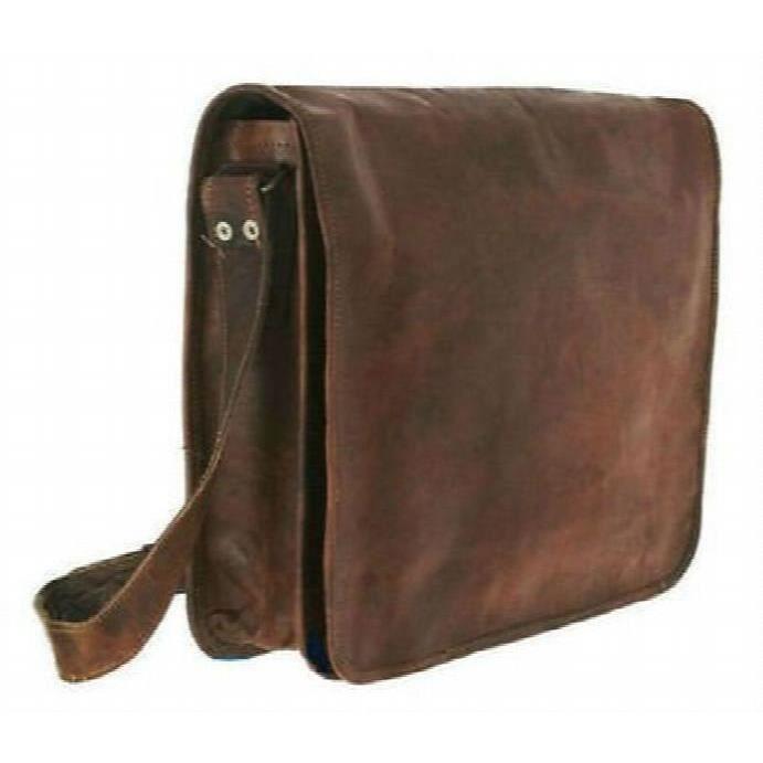 Mens 100% Genuine Leather Bag , Messenger Bag , Leather Office School College Laptop Side Bag Shou XNYER