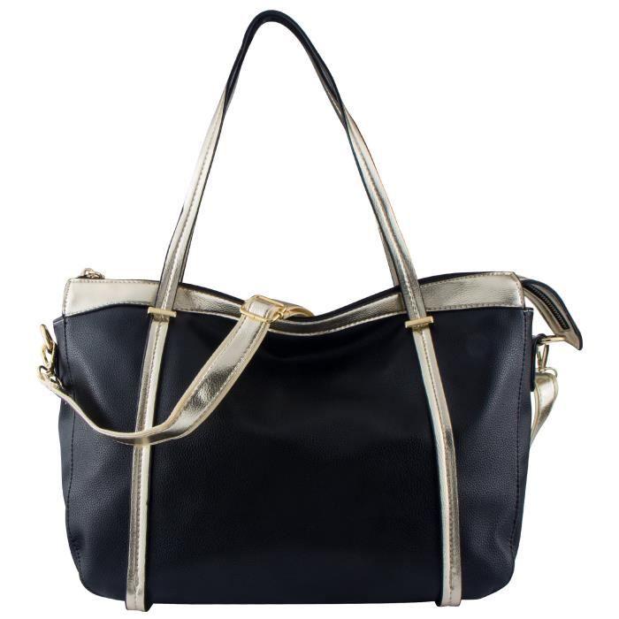 Pu cuir sacs à main Top-manche Grand fourre-tout Sac Sac à bandoulière pour achats occasionnels YHOL9