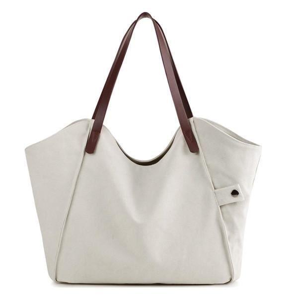 SBBKO2256Femmes durable sac à main épais sac à bandoulière occasionnels grande capacité sac à bandoulière Blanc