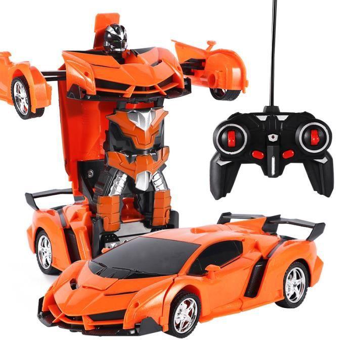 D'un 18 En Modèle Rc Robot orange Bouton Enfants De Pour TransformationDéformation Voiture RcJouet 1 jLAR54
