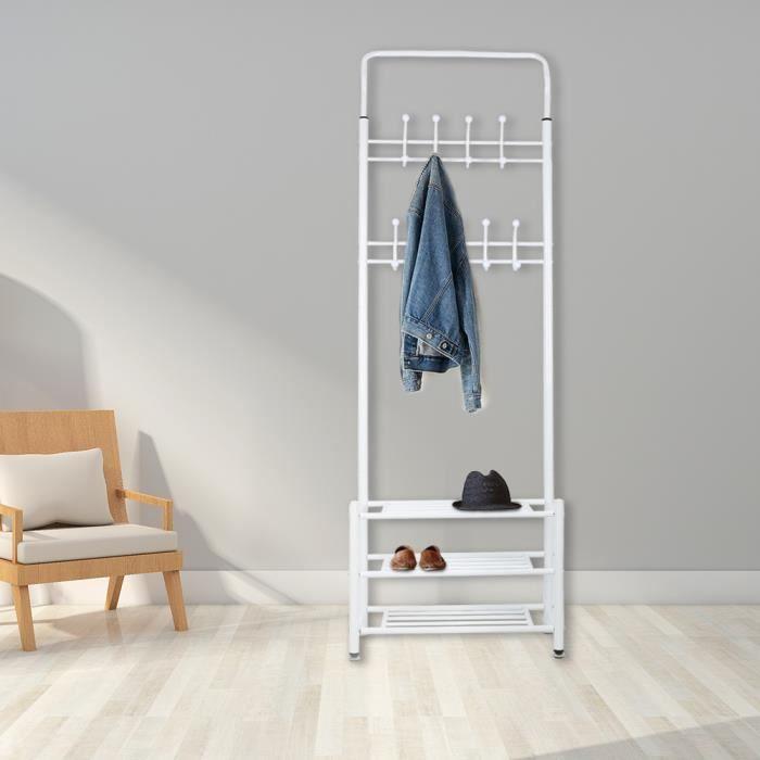rangement chaussures avec porte manteau achat vente. Black Bedroom Furniture Sets. Home Design Ideas