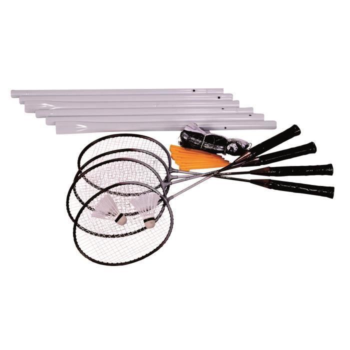 4 Raquettes Badminton + Filet