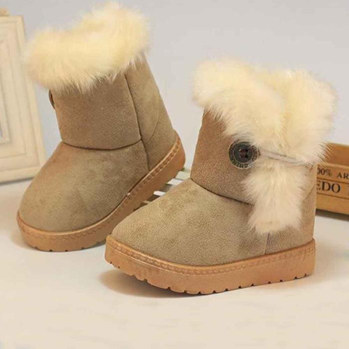 mode hiver b b filles enfant bottes de neige chaussures. Black Bedroom Furniture Sets. Home Design Ideas