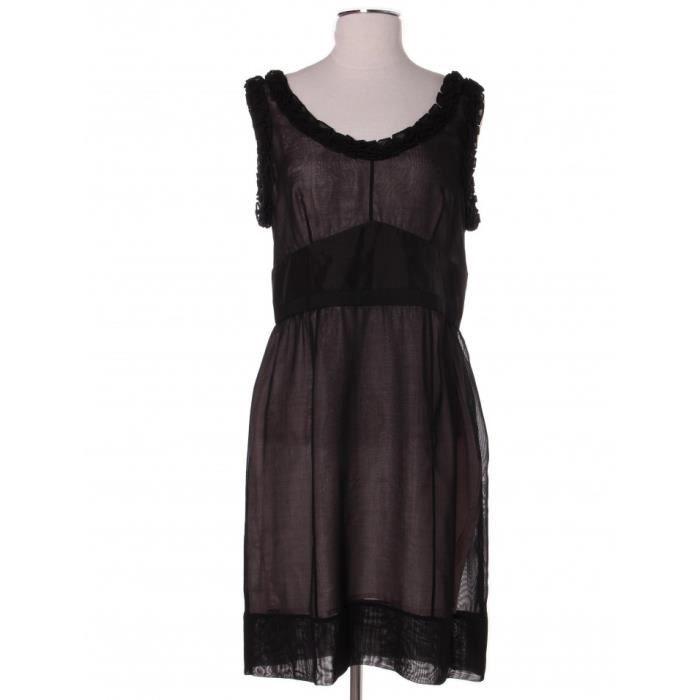 Robe LOUIS VUITTON 40 Noir en Soie Noir Noir - Achat   Vente robe ... adfffcc1b66