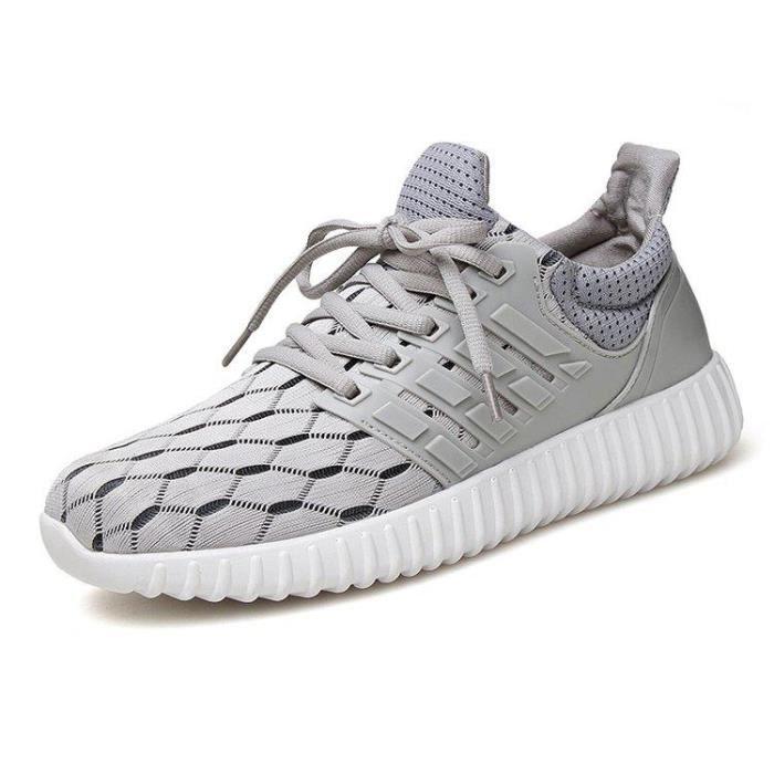 Chaussures De Sport Pour Hommes Textile De Course Antidérapant Populaire BLLT-XZ123Noir39 7QkM2