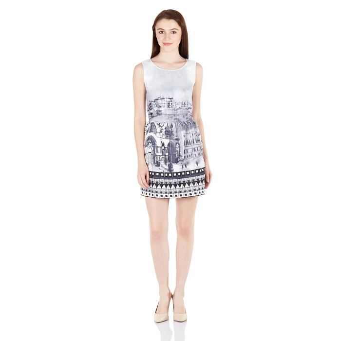A Dress Taille CYG4A line 38 Polyester Elle Womens UEzq6qA