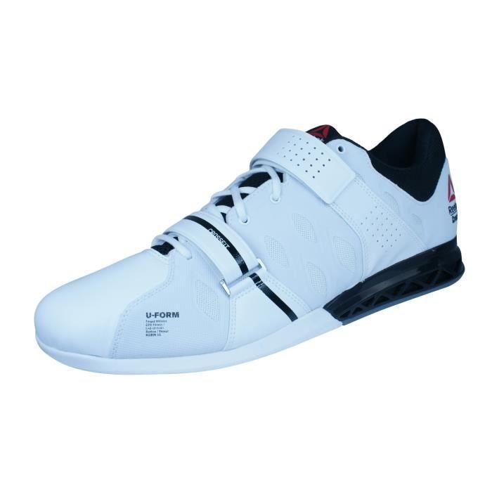 9a1a48f487c Reebok R Crossfit Lifter Plus 2.0 hommes Haltérophilie Chaussures - Baskets  Blanc 14
