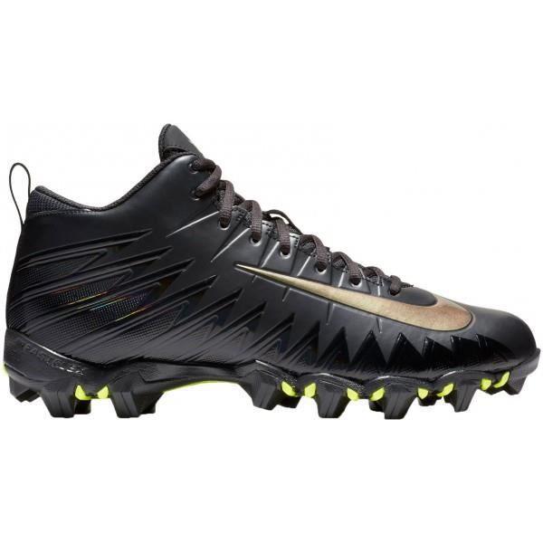 buy online aa06b 3a6b0 Crampons de Football Americain moulés Nike Alpha Menace Shark 2 3 4 Noir