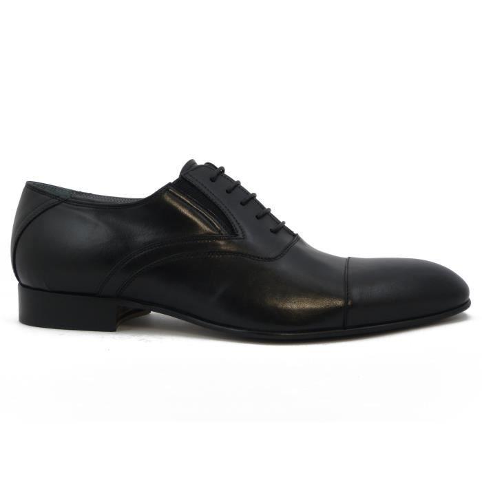 des transformation homme la made cuir in chaussure Italy veau avec La 2092 lacets doux en de nappa 100 noir artisanale wtxq4xT5