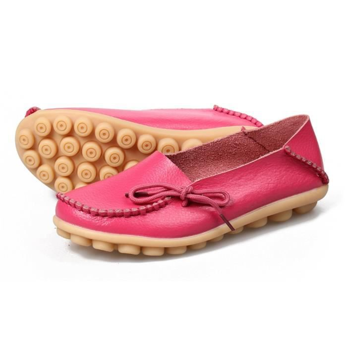Comfort Walking Office Flat Loafer E2R41 Taille-36 1-2 f6rj0gpY