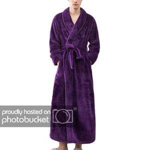 abb203421a781 PEIGNOIR Peignoir en Flanelle Longue Femme d'hiver Violet L