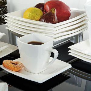 MÉNAGÈRE 32pcs Service de Table Porcelaine Tasses Soucoupe