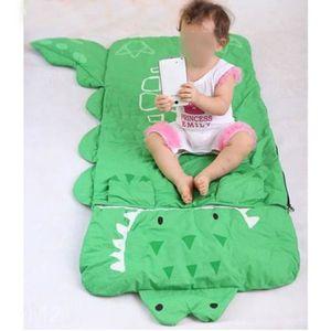 sac de couchage enfant duvet enfant avec oreiller sac de couchage crocodile vert 140 60cm prix