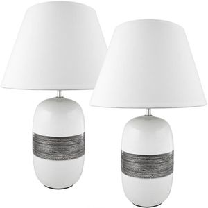 LAMPE A POSER BRUBAKER Lampe de table / de chevet - Lot de 2 - P