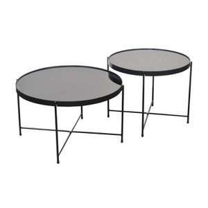TABLE BASSE By Demeyere « Alicia » lot de 2 tables basses rond