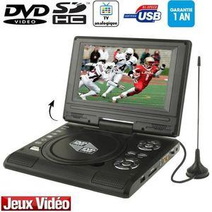 LECTEUR DVD PORTABLE DVD/TV Portable écran 7.5p LCD (USB-SD-Jeux) Noir