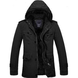 MANTEAU - CABAN Manteau Homme Hiver longue Multi-poche Avec velour