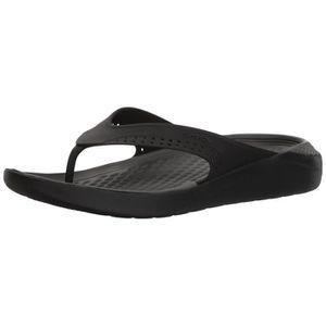 e1bcdcf99513d Crocs Women s Literide Flip PAYP9 Taille-44 1-2 Noir Noir - Achat ...