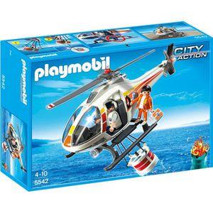 UNIVERS MINIATURE PLAYMOBIL 5542  Hélicoptère Bombardier D'eau