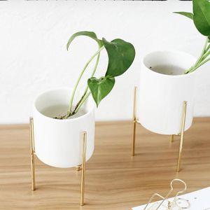 JARDINIÈRE - POT FLEUR  TEMPSA Céramique Fleur Plante Succulent Pot et Or