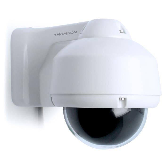 THOMSON Caméra de surveillance dôme motorisée PTZ extérieure