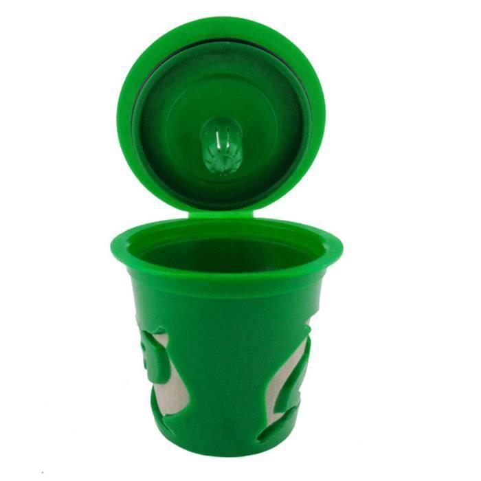 DISTRIBUTEUR CAPSULES Lafayestore®Capsules de café rechargeables en plas