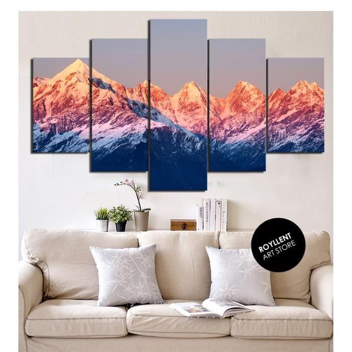 paysage de montagne tableau d 39 impression peinture pour la d coration la maison art de mur. Black Bedroom Furniture Sets. Home Design Ideas