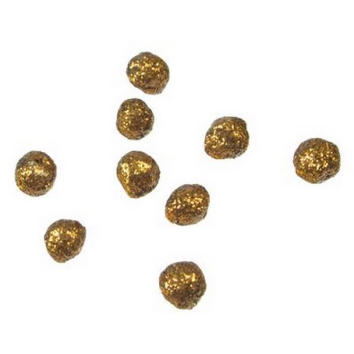 Décors de table 60 Mini-Boules Pailletées Or Diamètre 1 cm