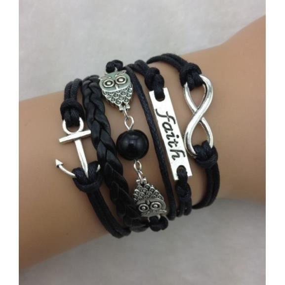 Bracelet de couple pas cher - Bracelet couple ancre ...