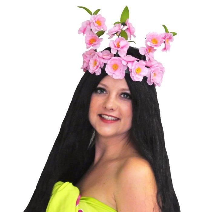 Couronne De Fleurs Tahitienne Achat Vente Chapeau Perruque