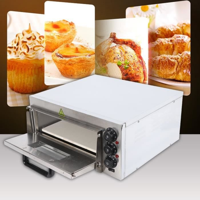 four à pizza 2000w professionnel avec 1 cabinet température réglable