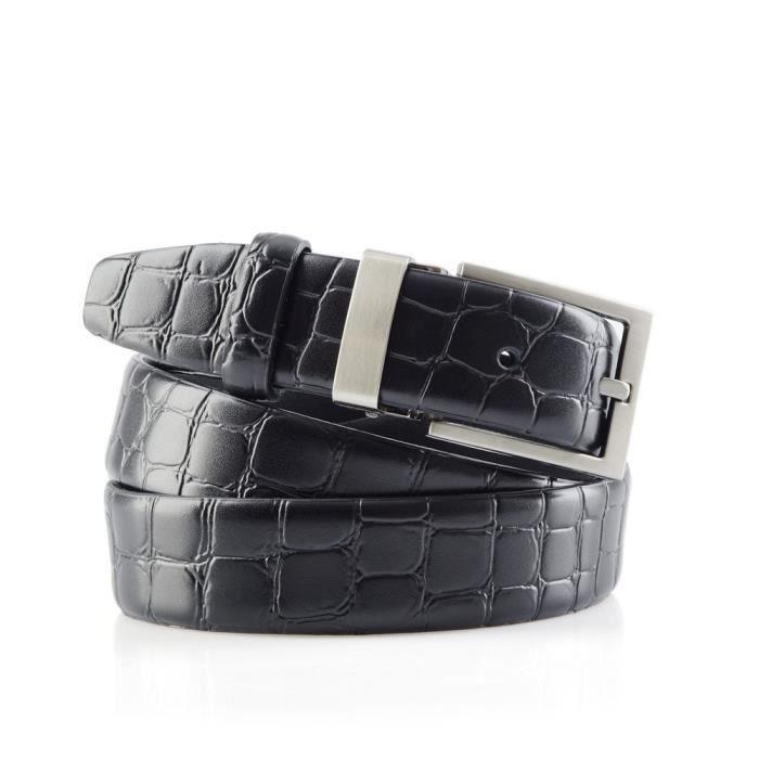 Ceinture costume Croco Noir Noir - Achat   Vente ceinture et boucle ... 7b0059d146d