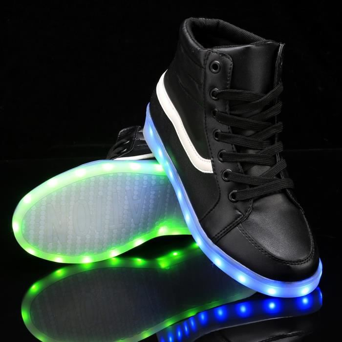 chaussures LED Lace Up baskets 42# 9tLXm