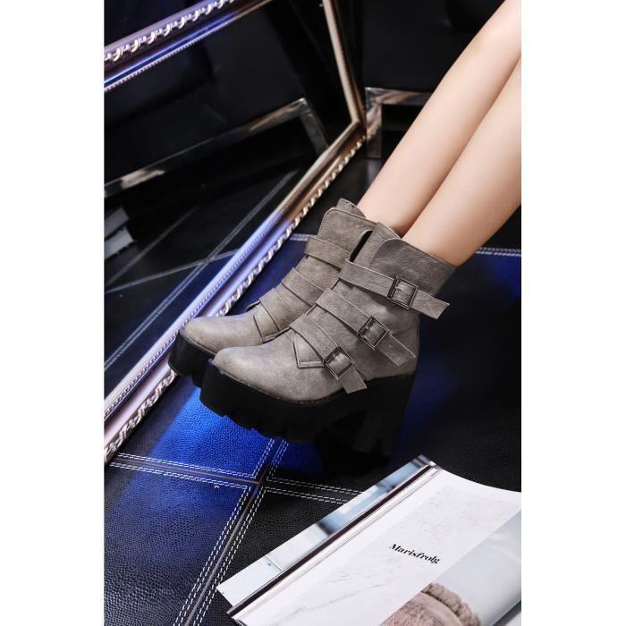 martin boots-Pure Colorpais Bande de talon d ...