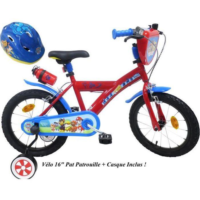 VÉLO ENFANT Vélo enfant Garçon Pat Patrouille - 16'' - Rouge e