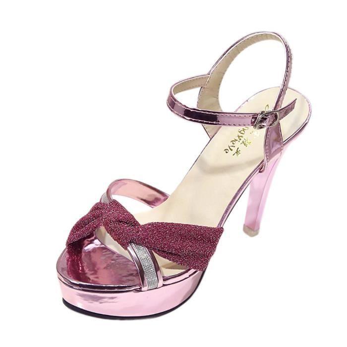 Haute Chaussures Ceinture De Femmes Stiletto Veberge Sauvage Talons Simples Sandales chaussures 13210 Boucle FZqrFE