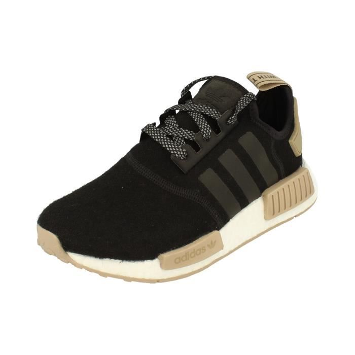 Hommes Noir Adidas Trainers r1 Originals Sneakers Chaussures Nmd 2WDI9EH