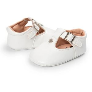 BOTTE Toddler nouveau-né bébé fille chaussures en cuir doux semelle enfant en bas âge anti-dérapant mignon Sh@GrisHM d6dEm