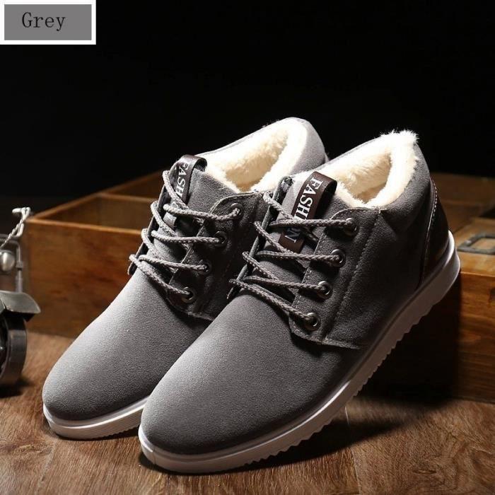 d'homme rembourrées de Chaussures air plein m0408 de chaud Flats Casual coton Chaussures d'hiver 6xqB8Aw8YS