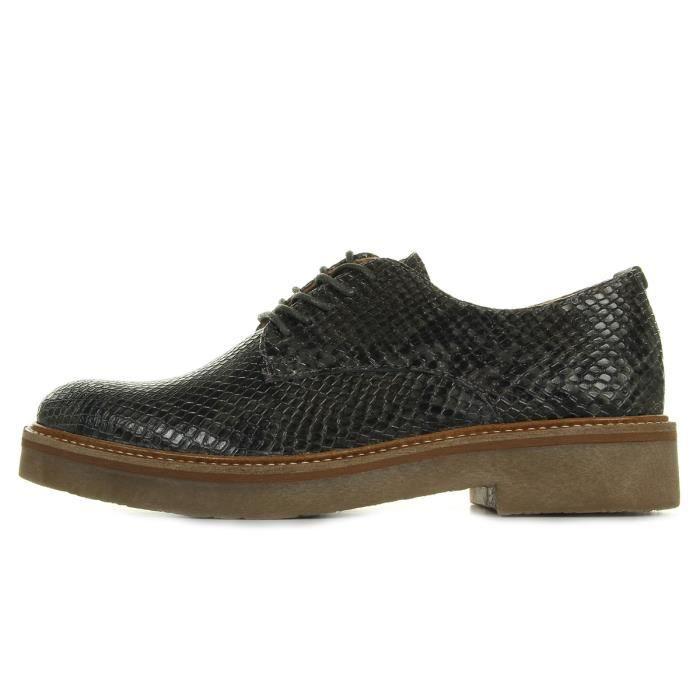 Chaussures Kickers Oxfork Cuir Nairobi Gris KZJUtxtWEI